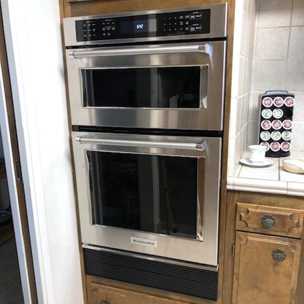Microtrim black aluminum oven fillers
