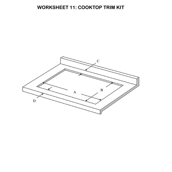 Micro Trim - Cooktop Trim Kit Illustration 11