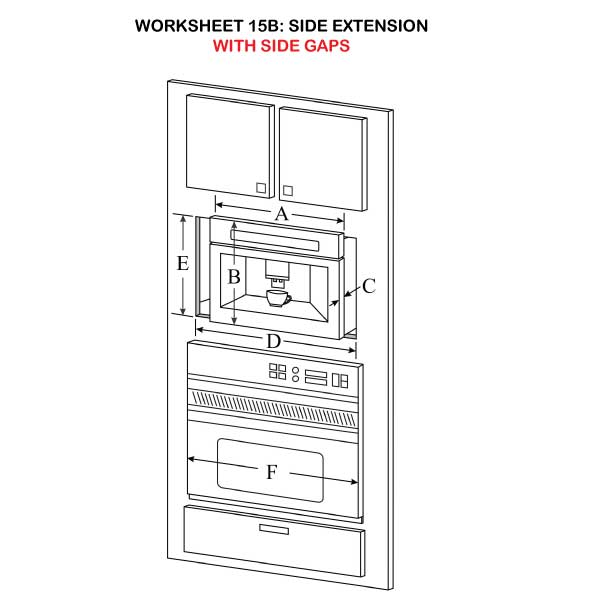 Side Extension with side gaps illustration 15B