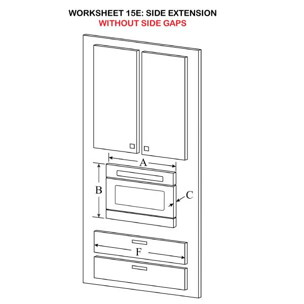 Side Extension without side gaps illustration 15E