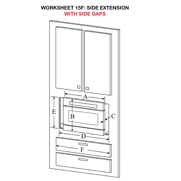 Side Extension with side gaps illustration 15F