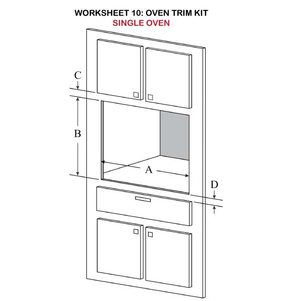 Oven Trim Kit Single Oven Illustration