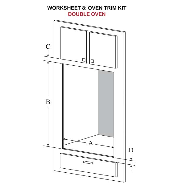 Oven Trim Kit Double Oven Illustration